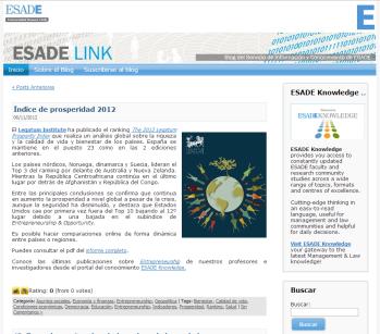 Desarrollo Blog ESADE link