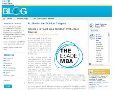 Desarrollo Blog ESADE MBA