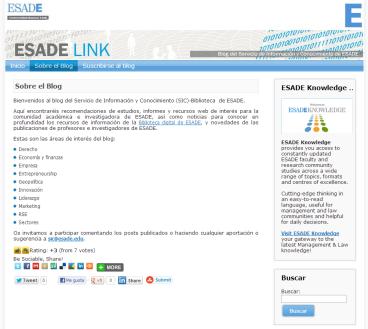Desarrollo web Blog ESADE link