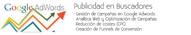 Gestión Publicidad en Google Adwords