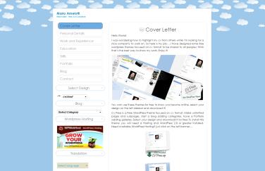 Plantilla Web WordPress Gratis Curriculum Nubes