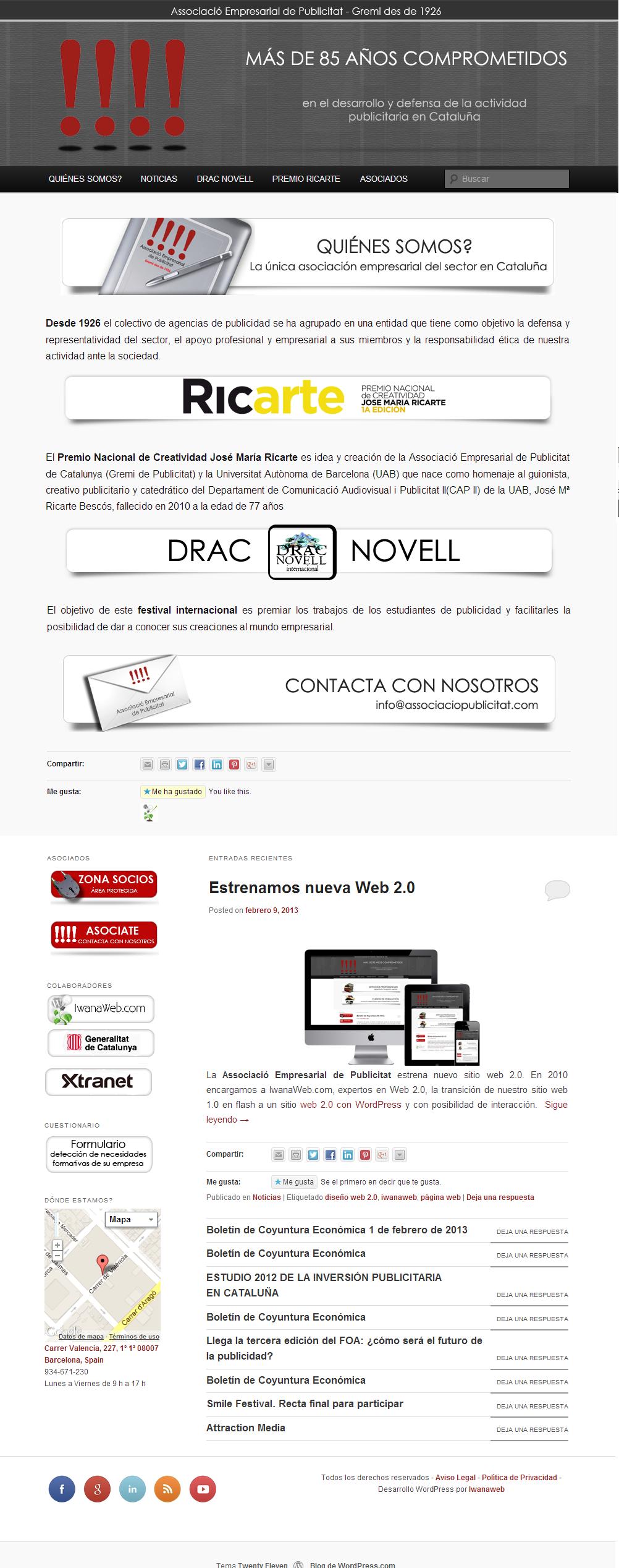 Desarrollo Web en WordPress Associacio Empresas de Publicitat