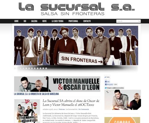 desarrollo web grupo musica