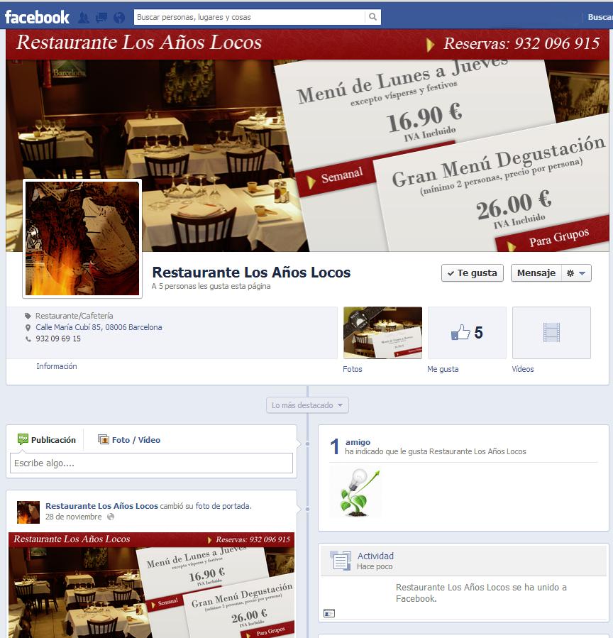 Pagina Facebook Restaurante