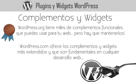 WordPress com versus WordPress org puglins y widgets
