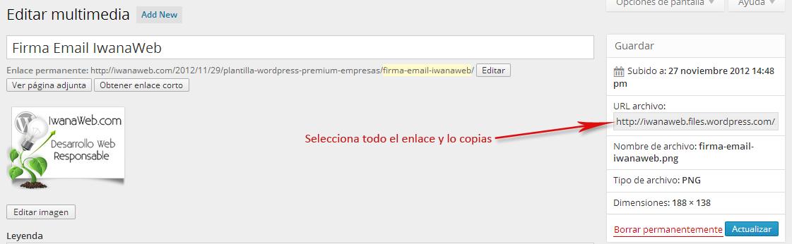 Copiar Enlace Firma de Correo Gmail