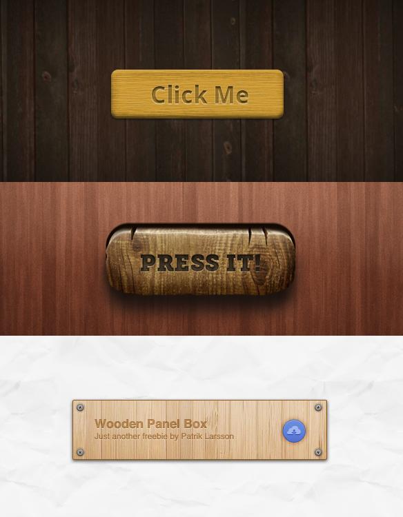 botones Web Madera Rustico