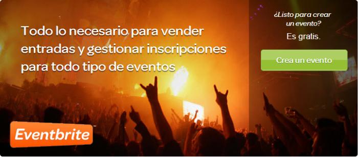 Eventbrite crea eventos online vende entradas