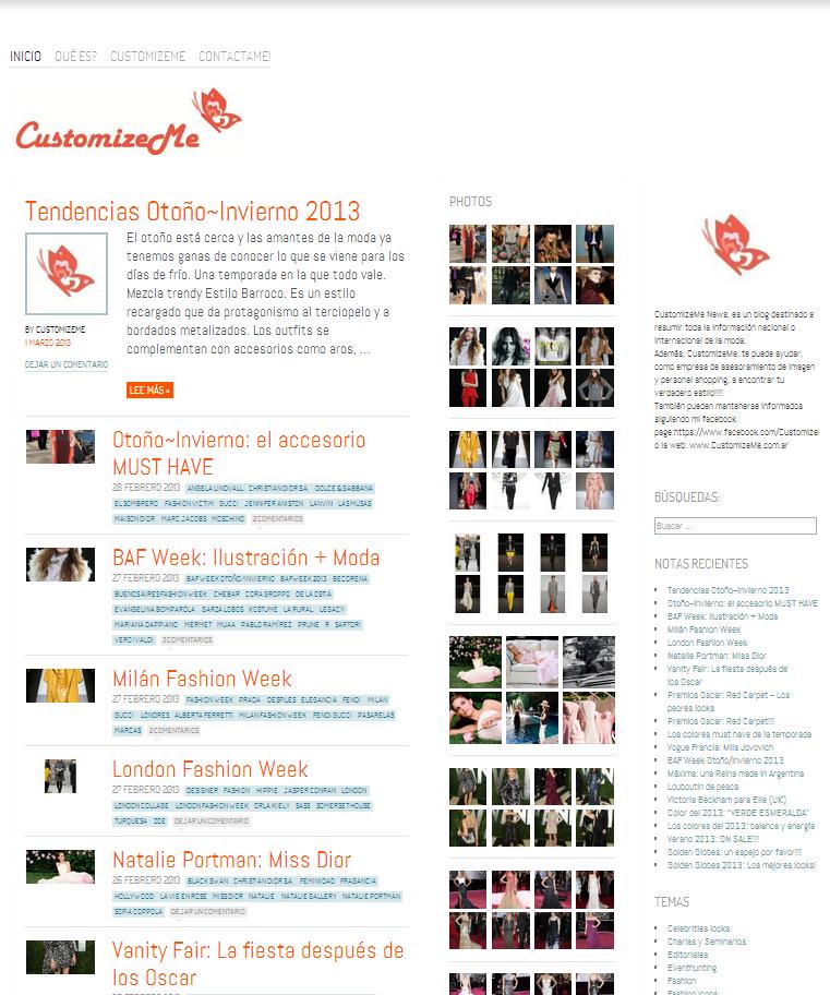 Plantilla Web Gratis de Moda yTendencias y Creaciones