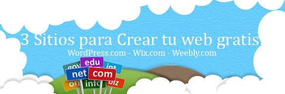 3 sitios para crear tu web gratis