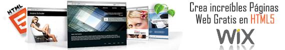 Crea Paginas Web Gratis en HTML5