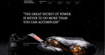 Portfolio fotografico gratis en HTML5