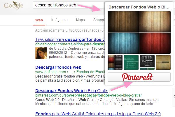 Posicionar Tablon de imagenes de Pinterest en Google