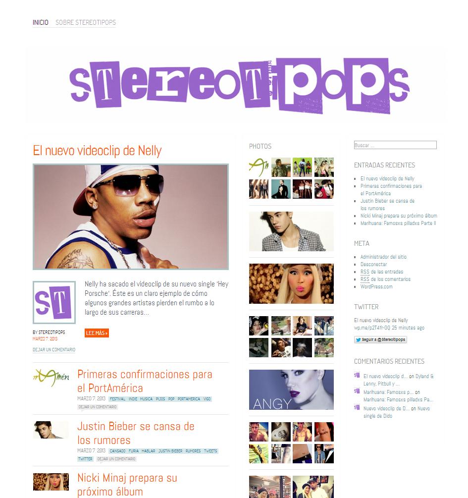 Plantilla Web Gratis WordPress de Magazine de Musica