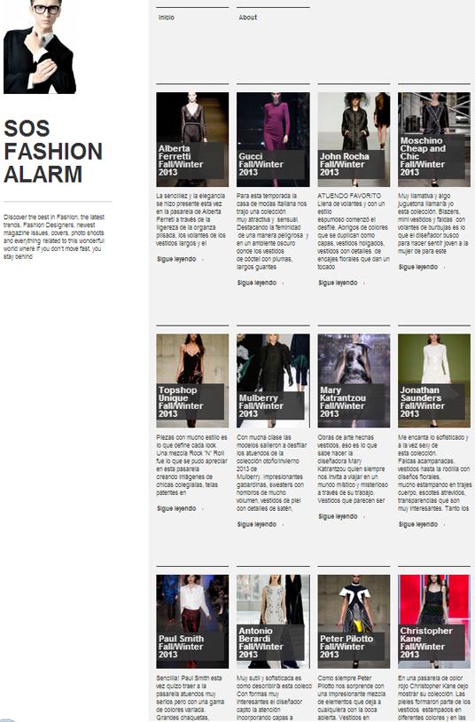 Plantilla Web Gratis de Blog Personal de  Moda y Tendencias