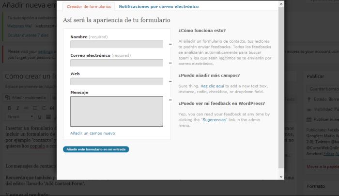 Crear Formulario de Contacto en WordPress