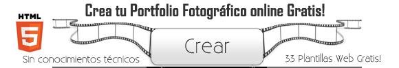 Monta tu portafolio de fotografia online gratis en html5