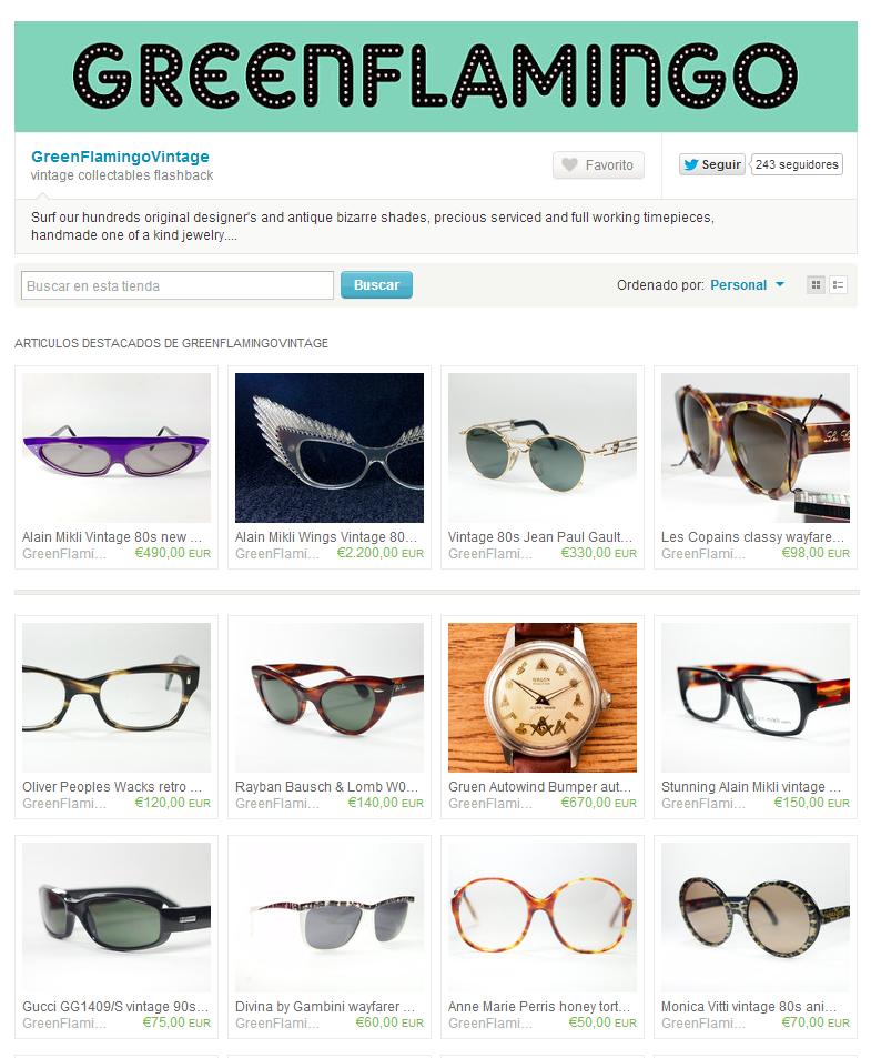 Ejemplo de tienda online de productos vintage en Etsy
