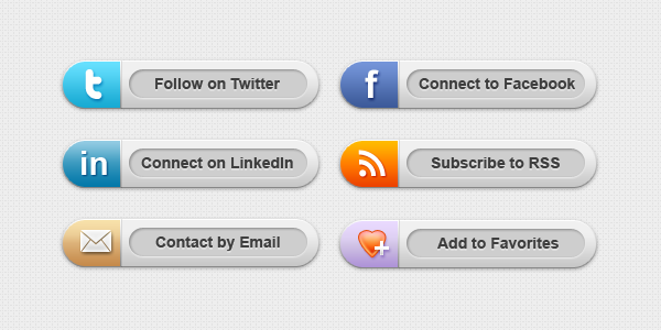 badges redes sociales