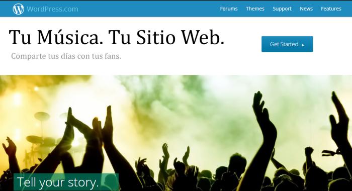 Sitios Web para Grupos de Musica en WordPress com