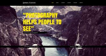 Portfolio fotos gratis en HTML5