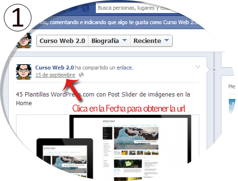 Poner un Post de FB y Google en WordPress Paso 1