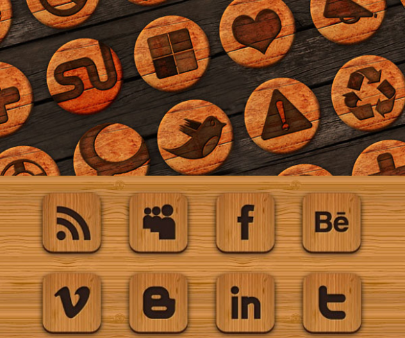 Iconos Web Madera Rustico