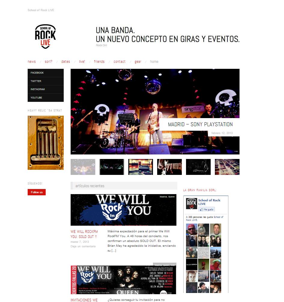 Plantilla Web Gratis de Blog Banda musica