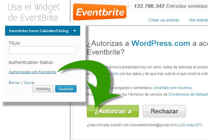 Widget de Eventos para WordPress.com