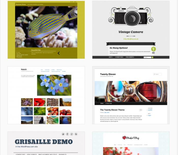 Temas WordPress Gratis tipo Portfoilo Fotolog