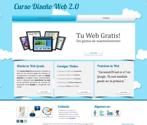 crea tu pagina web gratis en html5