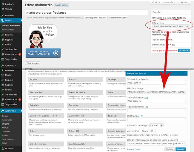 Widget Imagen WordPress.com Insertar Banner