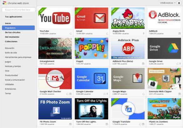 Complementos y Extensiones de Navegador Web Chrome