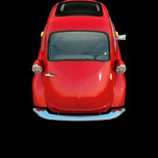 icono gratis auto coche rojo
