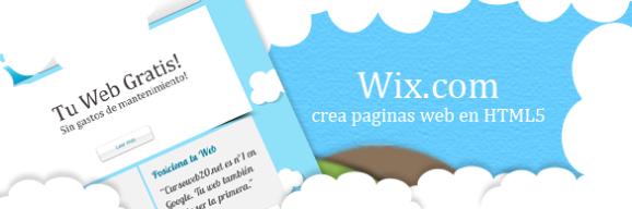 Wix crea tu pagina web gratis en html5